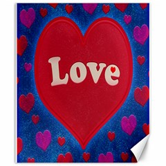 Love theme concept  illustration motif  Canvas 20  x 24  (Unframed)