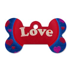 Love Theme Concept  Illustration Motif  Dog Tag Bone (two Sided)