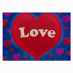Love Theme Concept  Illustration Motif  Glasses Cloth (large, Two Sided)