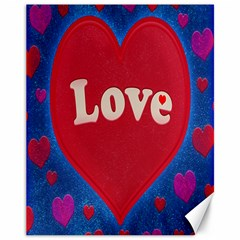Love theme concept  illustration motif  Canvas 11  x 14  (Unframed)
