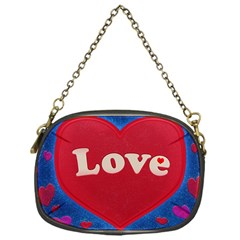 Love Theme Concept  Illustration Motif  Chain Purse (one Side)