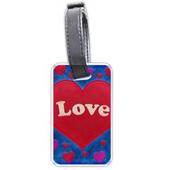 Love Theme Concept  Illustration Motif  Luggage Tag (two Sides)