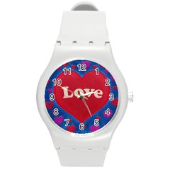 Love theme concept  illustration motif  Plastic Sport Watch (Medium)