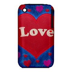 Love Theme Concept  Illustration Motif  Apple Iphone 3g/3gs Hardshell Case (pc+silicone)