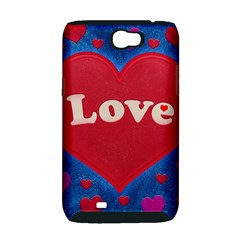 Love theme concept  illustration motif  Samsung Galaxy Note 2 Hardshell Case (PC+Silicone)