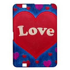 Love Theme Concept  Illustration Motif  Kindle Fire Hd 8 9  Hardshell Case
