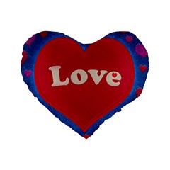 Love theme concept  illustration motif  16  Premium Heart Shape Cushion