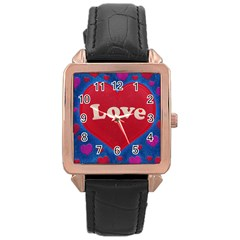Love theme concept  illustration motif  Rose Gold Leather Watch