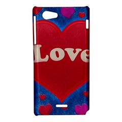 Love theme concept  illustration motif  Sony Xperia J Hardshell Case