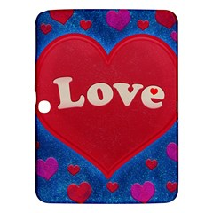 Love theme concept  illustration motif  Samsung Galaxy Tab 3 (10.1 ) P5200 Hardshell Case