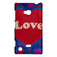 Love theme concept  illustration motif  Nokia Lumia 720 Hardshell Case