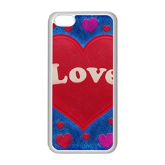 Love theme concept  illustration motif  Apple iPhone 5C Seamless Case (White)