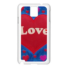 Love theme concept  illustration motif  Samsung Galaxy Note 3 N9005 Case (White)