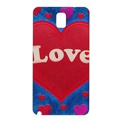 Love theme concept  illustration motif  Samsung Galaxy Note 3 N9005 Hardshell Back Case