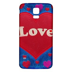 Love theme concept  illustration motif  Samsung Galaxy S5 Back Case (White)