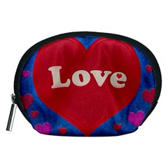 Love theme concept  illustration motif  Accessory Pouch (Medium)