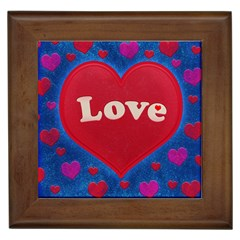 Love Theme Concept  Illustration Motif  Framed Ceramic Tile