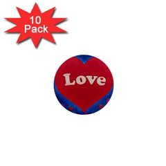 Love theme concept  illustration motif  1  Mini Button (10 pack)