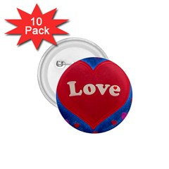 Love Theme Concept  Illustration Motif  1 75  Button (10 Pack)