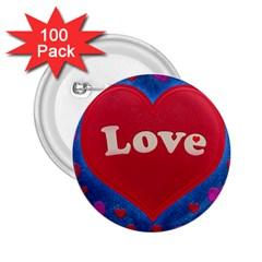 Love theme concept  illustration motif  2.25  Button (100 pack)