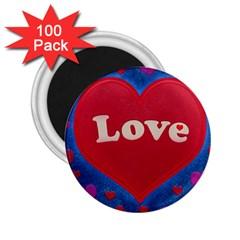 Love theme concept  illustration motif  2.25  Button Magnet (100 pack)