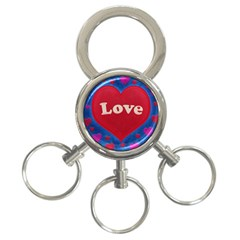 Love Theme Concept  Illustration Motif  3 Ring Key Chain