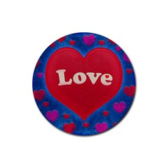 Love theme concept  illustration motif  Drink Coasters 4 Pack (Round)