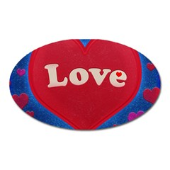 Love theme concept  illustration motif  Magnet (Oval)