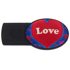 Love Theme Concept  Illustration Motif  2gb Usb Flash Drive (oval)