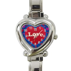 Love theme concept  illustration motif  Heart Italian Charm Watch