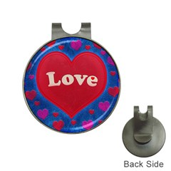 Love Theme Concept  Illustration Motif  Hat Clip With Golf Ball Marker
