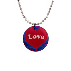 Love Theme Concept  Illustration Motif  Button Necklace