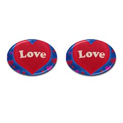 Love theme concept  illustration motif  Cufflinks (Oval)
