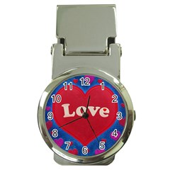 Love Theme Concept  Illustration Motif  Money Clip With Watch