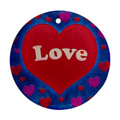 Love Theme Concept  Illustration Motif  Round Ornament (two Sides)