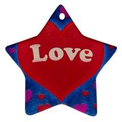 Love Theme Concept  Illustration Motif  Star Ornament (two Sides)