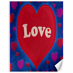 Love Theme Concept  Illustration Motif  Canvas 18  X 24  (unframed)