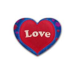 Love theme concept  illustration motif  Drink Coasters 4 Pack (Heart)
