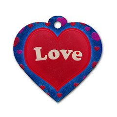 Love Theme Concept  Illustration Motif  Dog Tag Heart (one Sided)