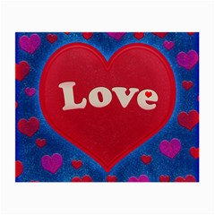 Love theme concept  illustration motif  Glasses Cloth (Small, Two Sided)