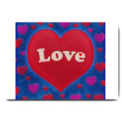 Love theme concept  illustration motif  Large Door Mat
