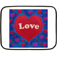 Love theme concept  illustration motif  Mini Fleece Blanket (Two Sided)