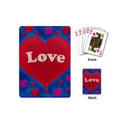 Love theme concept  illustration motif  Playing Cards (Mini)