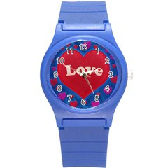 Love Theme Concept  Illustration Motif  Plastic Sport Watch (small)