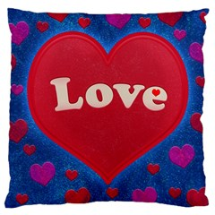 Love theme concept  illustration motif  Large Cushion Case (Two Sided)