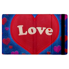 Love theme concept  illustration motif  Apple iPad 3/4 Flip Case