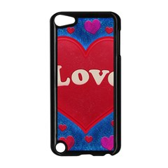 Love theme concept  illustration motif  Apple iPod Touch 5 Case (Black)