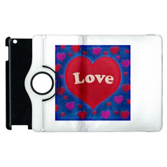 Love theme concept  illustration motif  Apple iPad 2 Flip 360 Case