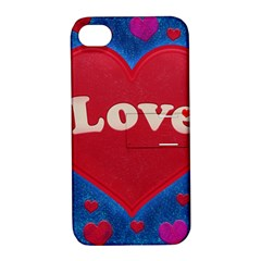 Love Theme Concept  Illustration Motif  Apple Iphone 4/4s Hardshell Case With Stand