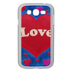 Love Theme Concept  Illustration Motif  Samsung Galaxy Grand Duos I9082 Case (white)
